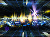 Hudební světla — Stock fotografie