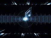 Geometry of music — Stock Photo