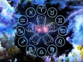 Composição de astrologia — Fotografia Stock