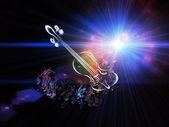 Une explosion de musique — Photo