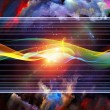 Stock Photo: Virtual Sine Wave