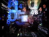Visualization of digital CPU — Stock Photo