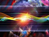 Virtual Sine Wave — Stock Photo
