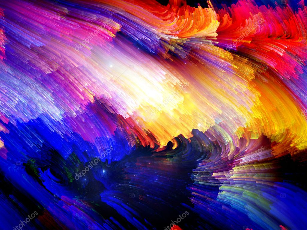 Color Swirls Series. Background design of streaks of digital paint on the subject of art, design and creativity — Stock Photo #12413163