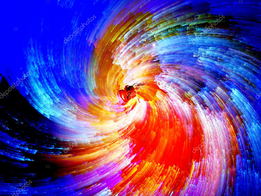 Color Swirls Series. Composition of streaks of digital paint on the subject of art, design and creativity — Stock Photo #12413218