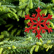 Red (artificial) snowflake ornament — Foto de stock #11110587