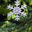 Snow flake shape Christmas ornament — Stock Photo