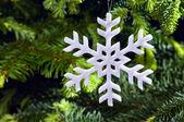 Snow flake shape Christmas ornament — Stock Photo