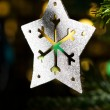 Decorative Silver Star ornament - Stock Photo