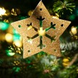 Decorative Gold Star ornament - Stock Photo