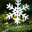 Stock Photo: Snow flake shape Christmas