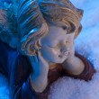 Angel in snow — Stock fotografie