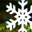 White artificial snowflake — Stock Photo #11585414