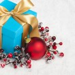 Stock Photo: Present in festive decoration