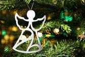 Angel shape Christmas ornament — Stock Photo