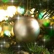 Decorative gold Christmas bauble — Stock Photo #11636770