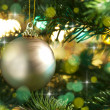 Decorative gold Christmas bauble — Stock Photo #11636832