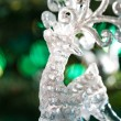 Decorative Chrystal moose shape ornament — Stock Photo