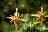 Decorative Gold Star ornament — Stock Photo