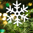 White artificial snowflake — Stock Photo #12103264