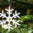 White artificial snowflake — Stock Photo #12103270