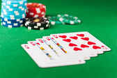 Royal flush or royal straight flush — Stock Photo