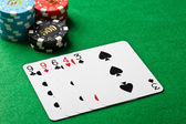 One pair in a poker game — Stock Photo