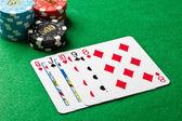 Straight in poker — Stock Photo