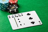 Poker flush — Stock Photo