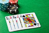 Full house poker game — Stock Photo