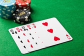 Four of a kind poker game — Stock Photo