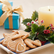 Christmas cookies, and presents - Stock Photo
