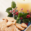 Stock Photo: Christmas cookies, short bread in festive setting