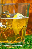 Iced Lemon Ice Tea — Stock Photo