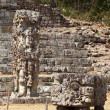 Maya ruins in jungle Copan - Stock Photo