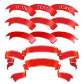 Vector red banner set — Stock Vector
