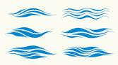 Set vektor golven — Stockvector