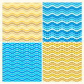 Seamless wave patterns — Stock Vector