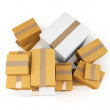 3d blank carton boxes — Stock Photo #11669811