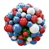 3d cluster of spheres — Stock Photo