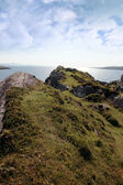 Sunny rocky kerry headland view — Stock Photo