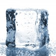 Ice cube with water drops — Stock Photo