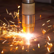 Plasma metal cutting — Stock Photo