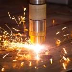 Plasma metal cutting — Stock Photo