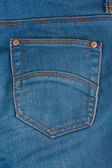 Blå denim med tomma ficka — Stockfoto
