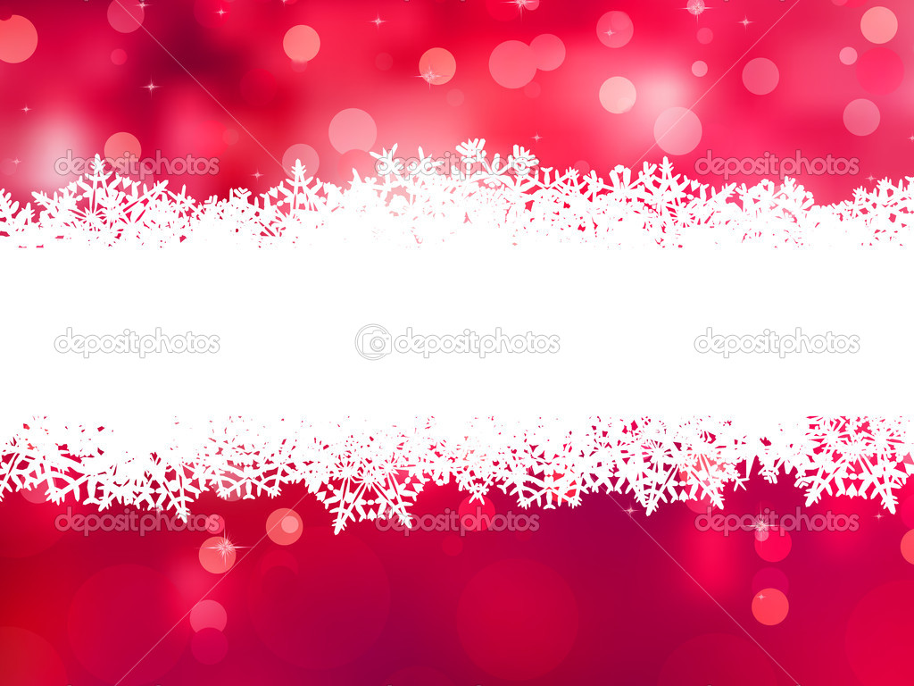 Red christmas background with copy space. EPS 8 vector file included  Stock vektor #10771169