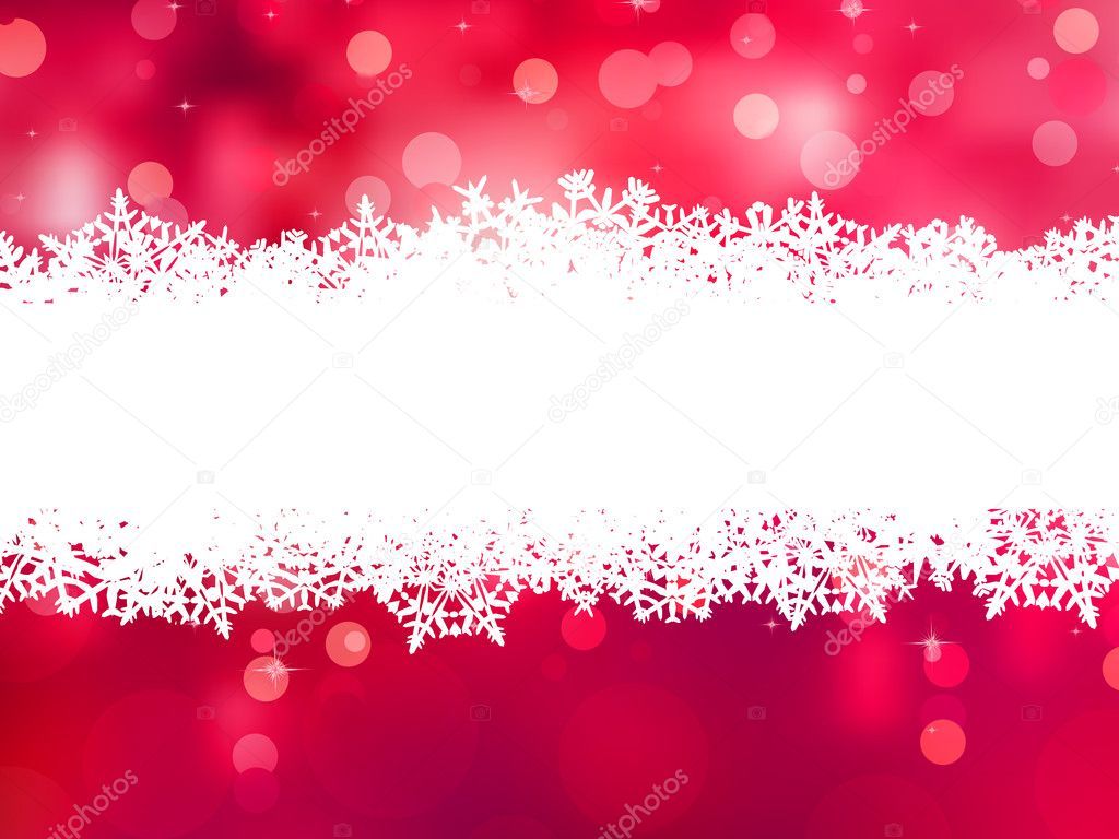 Red christmas background with copy space. EPS 8 vector file included — Stockvectorbeeld #10771169