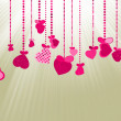Valentines Day Background. EPS 8 — Stock Vector