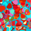 Beautiful colorful heart shape background. EPS 8 — Imagens vectoriais em stock