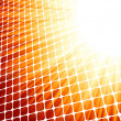 Royalty-Free Stock Immagine Vettoriale: Red yelloe rays light 3D mosaic. EPS 8